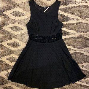 Free People Black Eyelet Dress